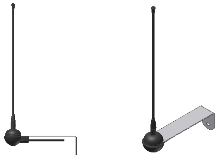 High performance filtered 433 MHz antenna with stainless steel wall mount bracket