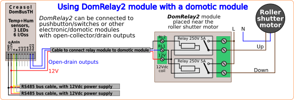 Schema relay module for home automation system